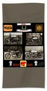 British Motorcycle - Vintage Bath Towel