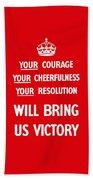 British Ww2 Propaganda Hand Towel