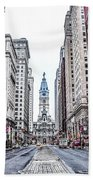 Broad Street Facing City Hall In Philadelphia Bath Towel