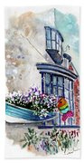 Broadies By The Sea In Staithes Bath Towel
