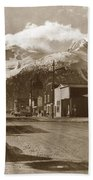 Broadway In Skagway Alaska Street Scene Circa 1957 Bath Towel