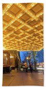 Broadway Theater Marquee Lights In Downtown Hand Towel