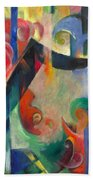 Broken Forms By Franz Marc Modern Bright Colored Painting  Bath Towel