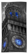 Bromo Seltzer Tower Baltimore - Blue  Hand Towel by Marianna Mills