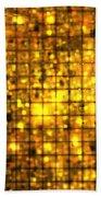 Bronze Solar Cubes Bath Towel
