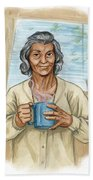 Brother Wolf - Grandmother Issi Hand Towel by Brandy Woods