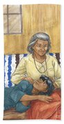 Brother Wolf - Grandmother's Lap Hand Towel