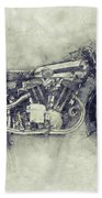 Brough Superior Ss100 - 1924 - Motorcycle Poster 1 - Automotive Art Bath Towel