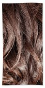 Brown Curly Hair Background Bath Towel