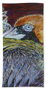 Brown Pelican Hand Towel