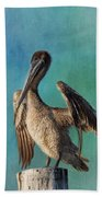 Brown Pelican - Fort Myers Beach Bath Towel