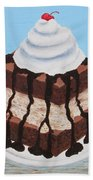 Brownie Ice Cream Sandwich Bath Towel