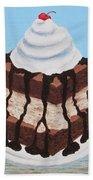 Brownie Ice Cream Sandwich Hand Towel