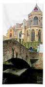 Bruges Bridge 4 Bath Towel