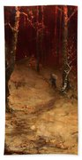 Brushwood Collector Bordering The Woods Bath Towel