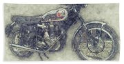 Bsa Gold Star 1 - 1938 - Motorcycle Poster - Automotive Art Hand Towel