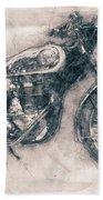 Bsa Gold Star - 1938 - Motorcycle Poster - Automotive Art Bath Towel