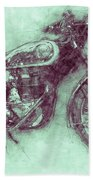Bsa Gold Star 3 - 1938 - Motorcycle Poster - Automotive Art Bath Towel