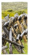 Buck And Rail Fence In The High Country Bath Towel