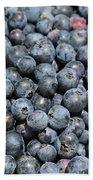 Bucket Of Blueberries Bath Towel