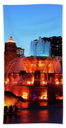 Buckingham Fountain Bath Towel