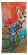 Buddha And The Divine Kit Fox No. 1373 Bath Towel
