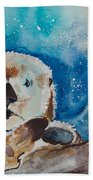 Buddha And The Divine Otter No. 1374 Bath Towel
