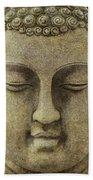 Buddha Head Hand Towel by M Montoya Alicea