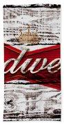 Budweiser Wood Art 5a Hand Towel