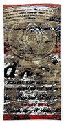 Budweiser Wood Art 5c Bath Towel