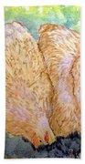 Buff Orpington Hens In The Garden Bath Towel