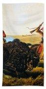 Buffalo Hunt, 1862 Bath Towel