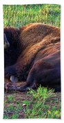 Buffalo In The Badlands Hand Towel