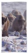 Buffalo In The Fog-signed-##6995 Bath Towel