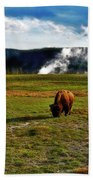 Buffalo In Yellowstone Bath Towel