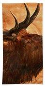 Bugling Bull Elk Autumn Background Bath Towel