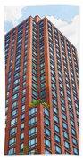 Building Closeup In Manhattan 6 Bath Towel
