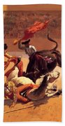 Bull Fight In Mexico 1889 Bath Towel