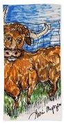 Bull Bath Towel