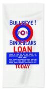 Bullseye For Binoculars Bath Towel