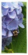 Bumble Bee Blues Hand Towel