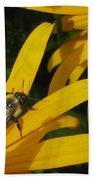 Bumble Bee Sitting On Black-eyed Susan Bath Towel