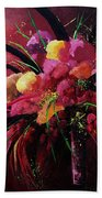 Bunch Of Red Flowers Bath Towel