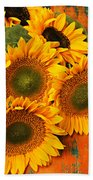 Bunch Of Sunflowers Bath Towel