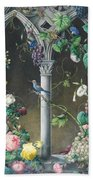 Bunches Of Roses Ipomoea And Grapevines Bath Towel
