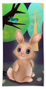 Bunny And Birdie Bath Towel