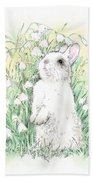 Bunny In White Hand Towel