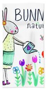 Bunny Nature Hand Towel