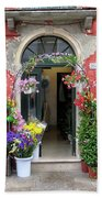 Burano Flower Shop Bath Towel