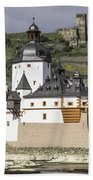 Burg Pfalzgrafenstein And Burg Gutenfals Squared Bath Towel